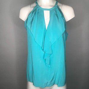 Trina Turk Aqua Turquoise Silk Tank